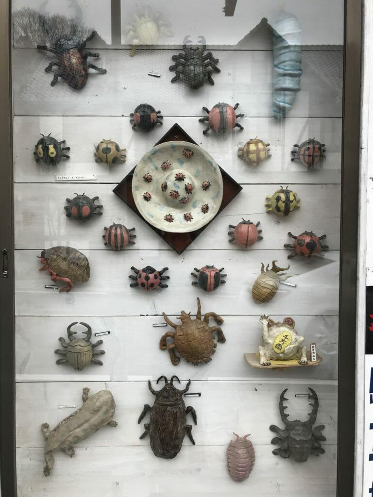 益子焼の虫たち