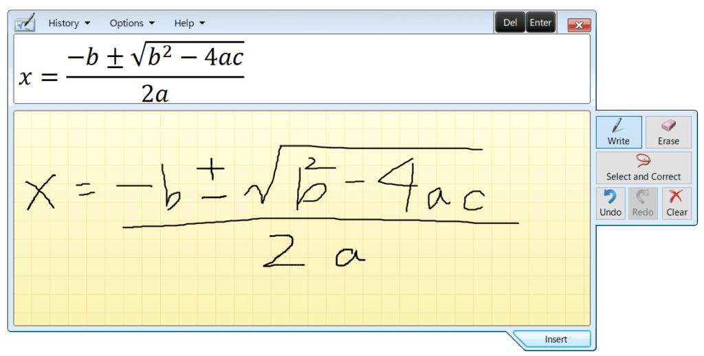 Math-Input-Panel画面
