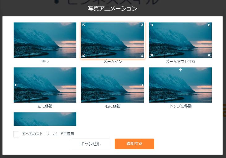写真アニメーション