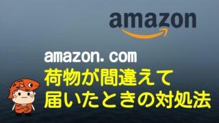 ブログタイトル-amazon誤配送